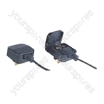 Fused Euro Converter Plug 2 Pole Euro Plug to 3 Pin UK Plug - Total Load (A) 3