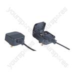 Fused Euro Converter Plug 2 Pole Euro Plug to 3 Pin UK Plug - Total Load (A) 3