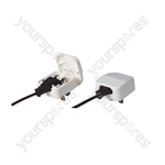 3A Euro Converter Plug Which Converts 2 Pole Euro Plug To 3 Pin UK Plug