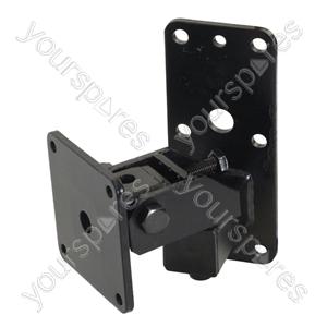Heavy Duty  Speaker Wall Bracket with Tilt and Turn - Colour Black