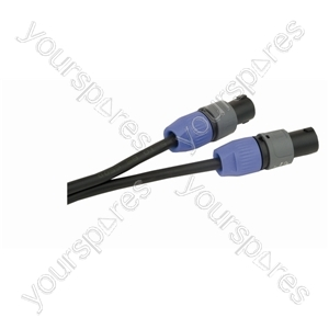 Professional 2 Pole Speakon Plug to 2 Pole Speakon Plug  Speaker Lead 2x 1.5mm Highflex Cable - Length (m) 15