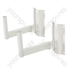 35mm Heavy Duty Adjustable Speaker Wall Bracket (Pair) - Colour White