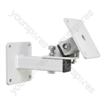 Heavy Duty  Speaker Wall Bracket with Tilt and Turn - Colour White