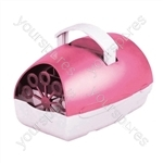 Party Time Battery Operated Bubble Machine  - Colour Pink