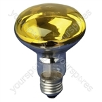 R080 Reflector Lamp ES 60W - Colour Yellow