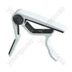 Full Metal Capo with Grips - Colour White