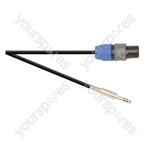 Premium 2 Pole Neutrik Speakon Plug to 6.35mm ELV Jack Plug Speaker Lead With 1.5mm Highflex Cable - Lead Length (m) 3