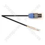 Premium 2 Pole Neutrik Speakon Plug to 6.35mm ELV Jack Plug Speaker Lead With 1.5mm Highflex Cable - Lead Length (m) 10