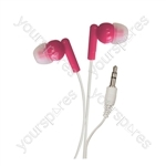 In-Ear Stereo Earphones - Colour Pink