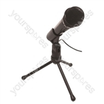 SoundLAB Condenser 3.5mm Jack Microphone with Adjustable Stand