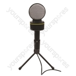 SoundLAB Condenser 3.5mm Jack Microphone with Volume Control