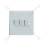 3 Way 2 Gang Light Switch 5A