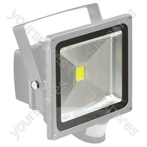 Grey 30 W LED Flood Light with PIR sensor
