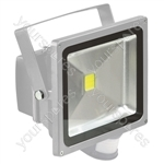 Grey 30 W LED Flood Light with PIR sensor