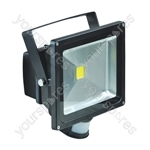 Eagle 50W LED Flood Light with PIR and PIR Override Facility - Colour Black