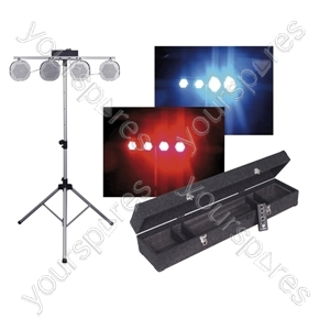NJD 4 Head LED RGB DMX Lighting Kit