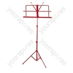 Folding Sheet Music Stand - Colour Red