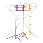 Folding Sheet Music Stand - Colour Yellow
