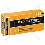 Duracell Industrial Alkaline Batteries (Box of 10) - Type AAA