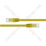 Yellow 0.5m RJ45 Straight Patch Lead (Qty 50)