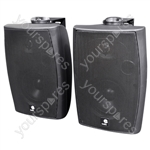 E-Audio 60w Active Wall Mounted Speakers with Bluetooth & Auxiliary Input - Colour Black