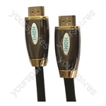 Premium Digital Screened HDMI to HDMI TV and Video Lead Black - Lead Length (m) 1