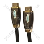 Premium Digital Screened HDMI to HDMI TV and Video Lead Black - Lead Length (m) 2