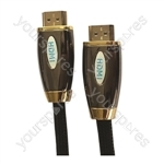 Premium Digital Screened HDMI to HDMI TV and Video Lead Black - Lead Length (m) 5