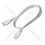 Standard 1.4 Version HDMI to HDMI TV and Video Lead White - Lead Length (m) 3