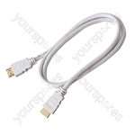 Standard 1.4 Version HDMI to HDMI TV and Video Lead White - Lead Length (m) 5