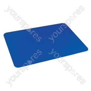 Tenura Silicone Rubber Anti Slip Rectangular Mat 35.5x25.5 cm - Colour Blue