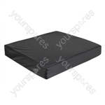 Vinyl Wheelchair Cushion with Memory Foam - Size 406x406x75 mm (16x16x3 inches)