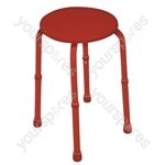 Multi-Purpose Adjustable Stool - Colour Red