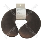 Memory Foam Neck Cushion - Colour Brown