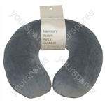 Memory Foam Neck Cushion - Colour Grey