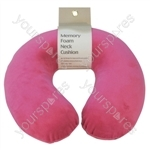 Memory Foam Neck Cushion - Colour Hot Pink