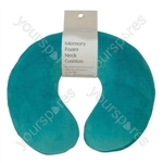 Memory Foam Neck Cushion - Colour Teal Green