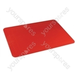 Tenura Silicone Rubber Anti Slip Rectangular Mat 35.5x25.5 cm - Colour Red
