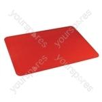 Tenura Silicone Rubber Anti Slip Rectangular Mat 35.5x25.5 cm - Colour Red