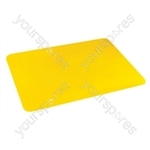 Tenura Silicone Rubber Anti Slip Rectangular Mat 35.5x25.5 cm - Colour Yellow