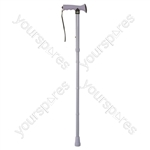 Folding Rubber Handled Walking Stick - Colour Purple