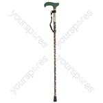 Deluxe Folding Walking Cane - Colour Emerald