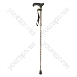 Deluxe Folding Walking Cane - Colour Japanese White