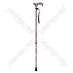Deluxe Patterned Walking Cane - Colour Floral