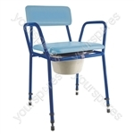 Essex Height Adjustable Commode Chair - Colour Blue