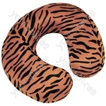 Spare Cover for Blue Memory Foam Neck Cushion - Colour Brown Tiger