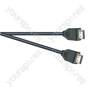 Premium Digital Screened HDMI to HDMI TV and Video Lead Black - Lead Length (m) 3