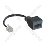US/UK Adaptor to Convert a UK BT Plug into a US RJ11 Plug. Bulk