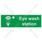 Eye Wash Station Sign - Self Adhesive Vinyl - 100mm x 300mm