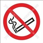 No Smoking Symbol - Self Adhesive Vinyl - 100mm x 100mm